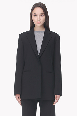 Hidden button tailored jacket