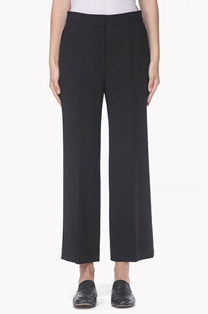 Straight crop tailored pants