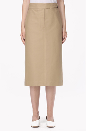 Buckle strap waist pencil skirt