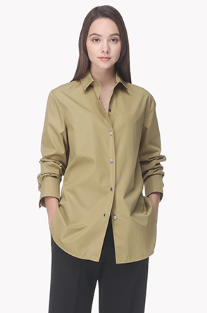Back flap line regular fit shirt