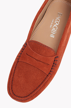 Penny suede driving shoes