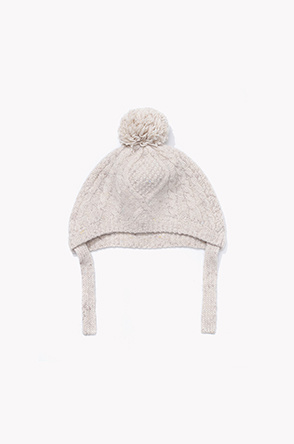 [KIDS] Lambswool cahsmere cable knit hat