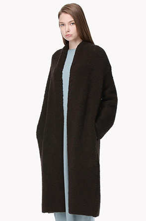 Lambswool blend faux shearling cardigan