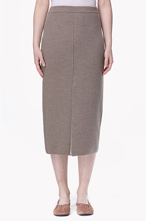 Front placket knit banding skirt