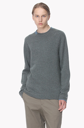 Cashmere line point knit sweater