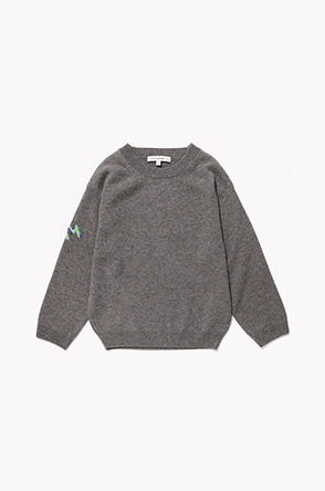 [KIDS] Cashmere embroidery knit sweater