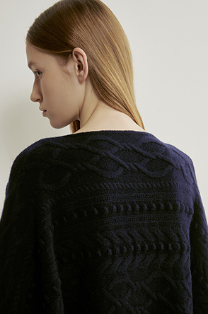 Cable dolman knit sweater