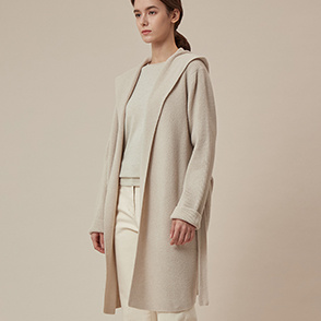 Cashmere belted knit cardigan