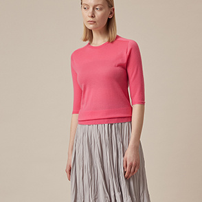 Cashmere whole garment knit top