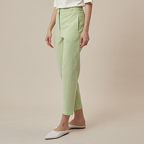 Linen blend denim pants