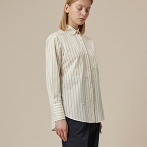 Crinkle stripe shirt