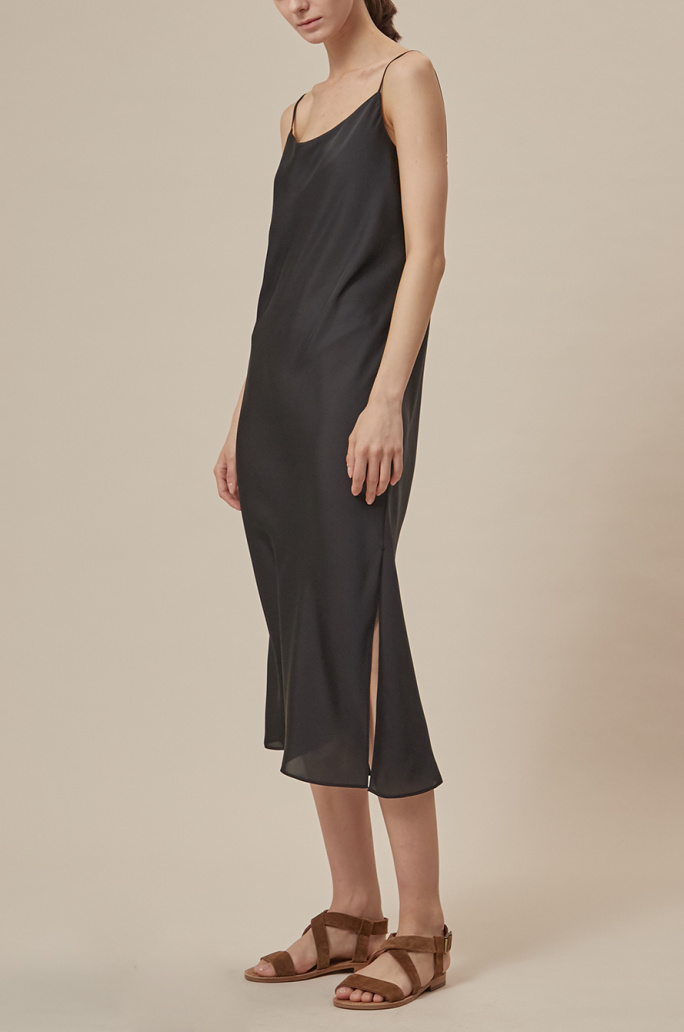 Side slit slip dress