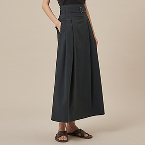 Maxi belted skirt