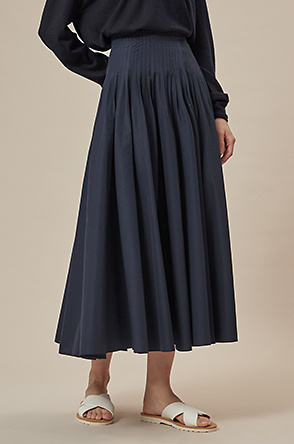 Pin tuck skirt