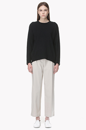 Smooth stretch peg top pants