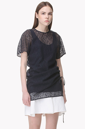 Paisley corded lace long top