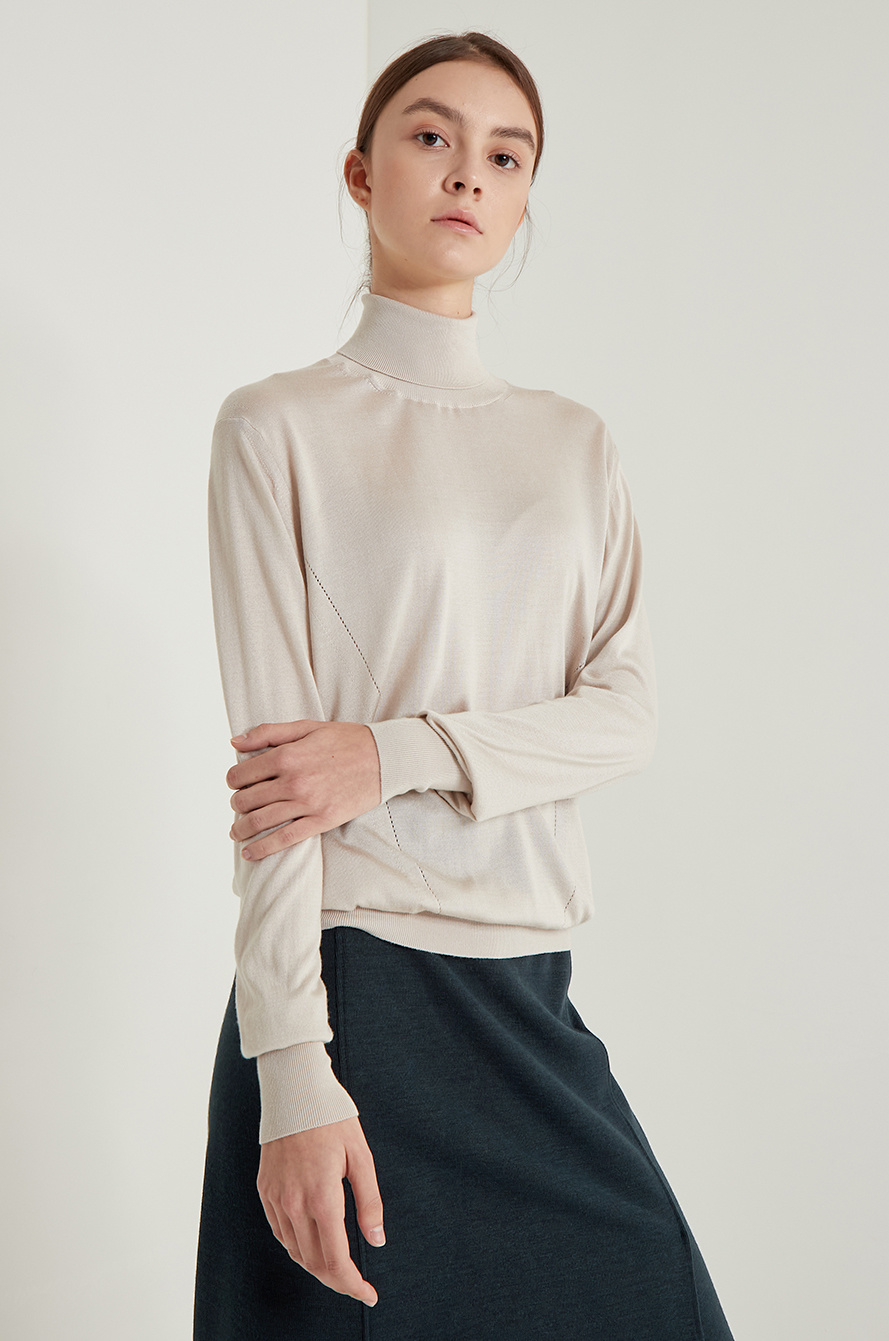 Silk knit top
