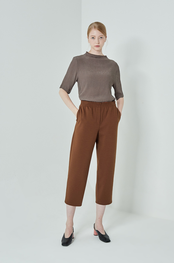 Crop banding pants