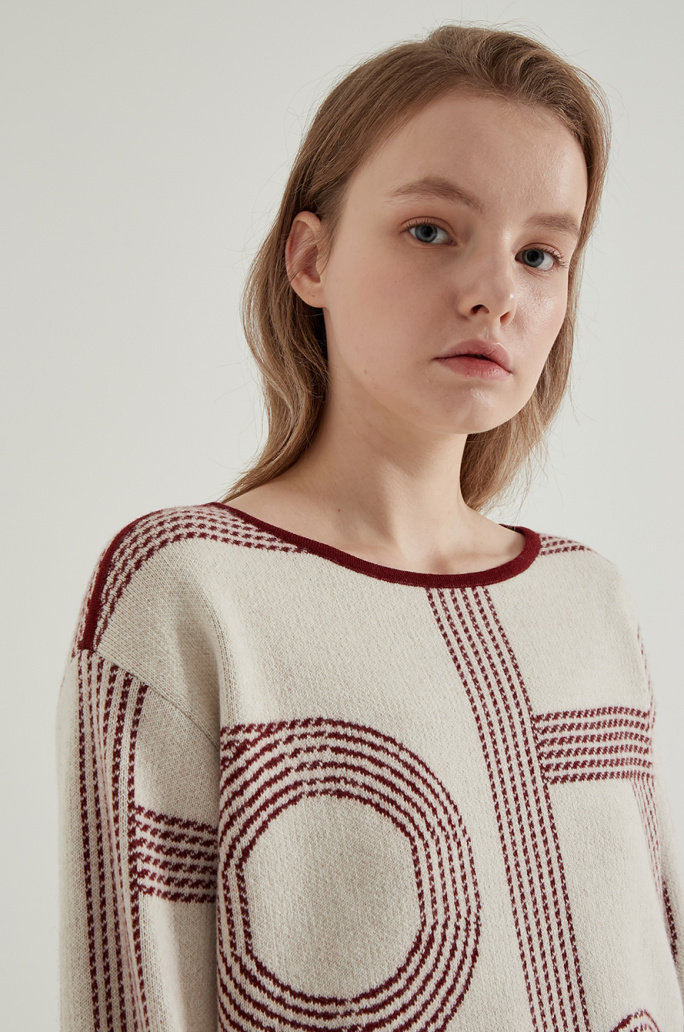 Cashmere blend knit sweater