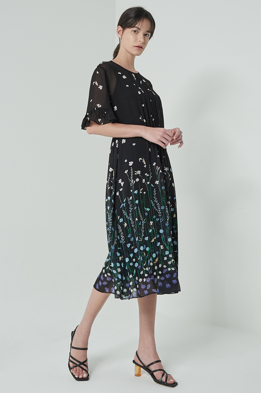 [MARKUS LUPFER] Print chiffon dress