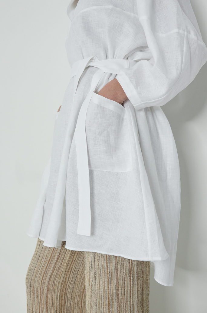 [PALMER HARDING] Linen belted dress
