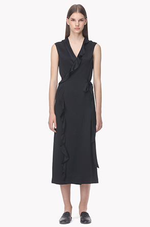 Sleeveless wrap silhouette dress