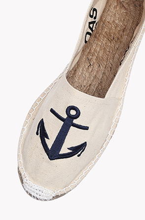 [OAS] Anchor espadrille slip on