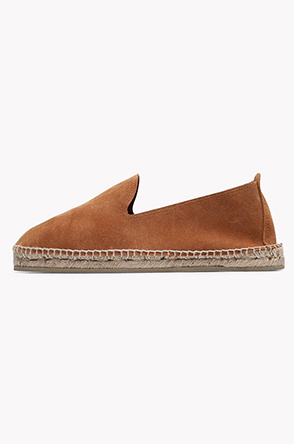 [OAS] Suede leather espadrille slip on
