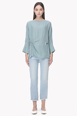 Drape point blouse