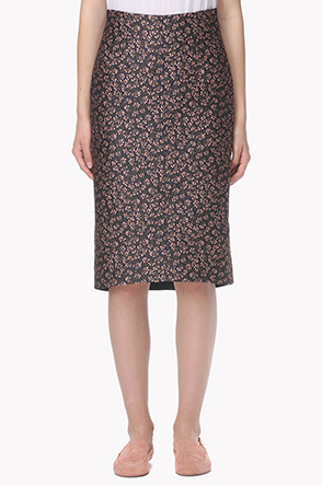 Floral pattern pencil skirt