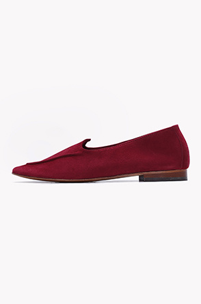 Lamb leather suede flat shoes