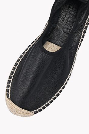 Strap leather espadrille shoes