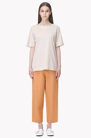 Cropped loose fit pants