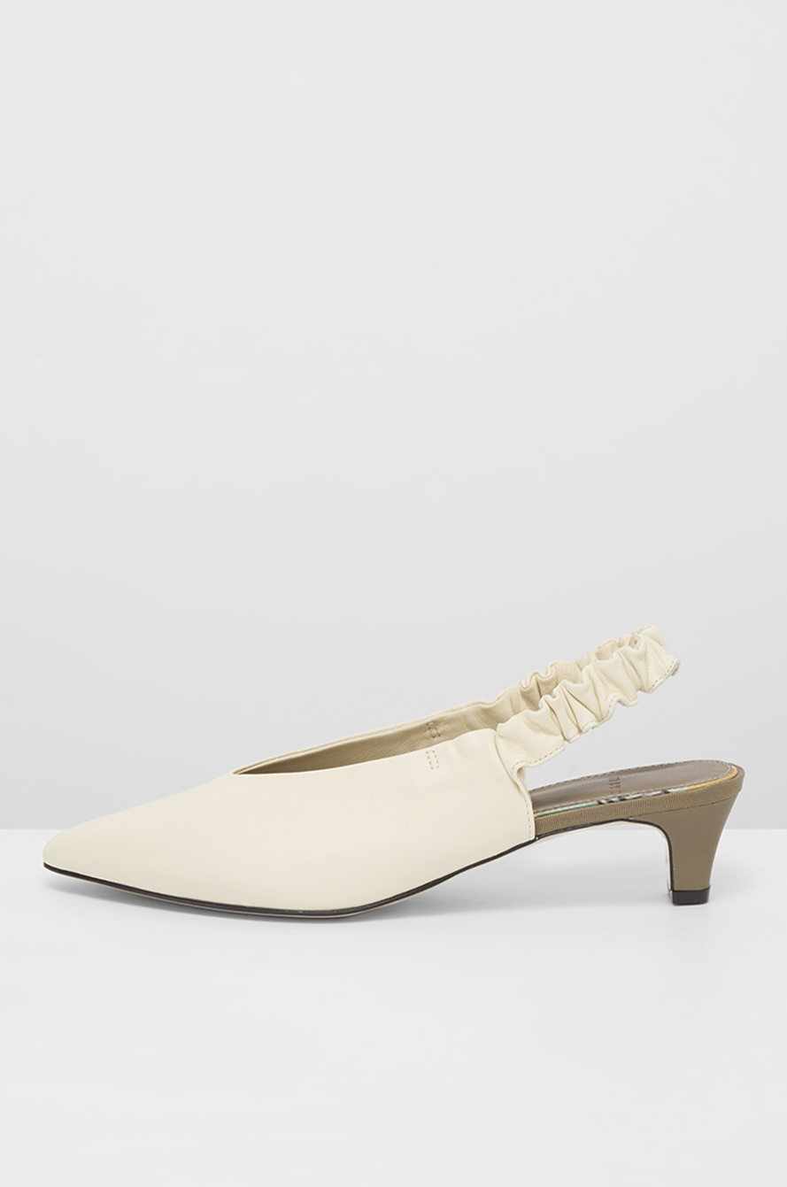 Banding sling back pumps