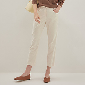 Patch corduroy pants