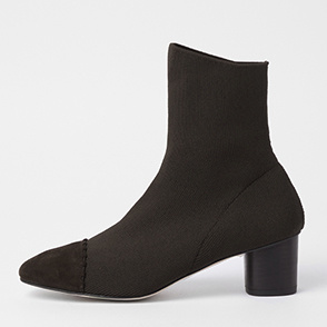 Suede block socks boots