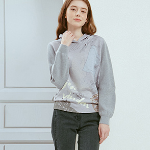 Knit block sweatshirt