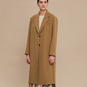 [CLASSY LUX] Wool blend single coat
