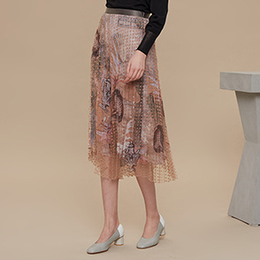 [CLASSY LUX] Pleats layered skirt