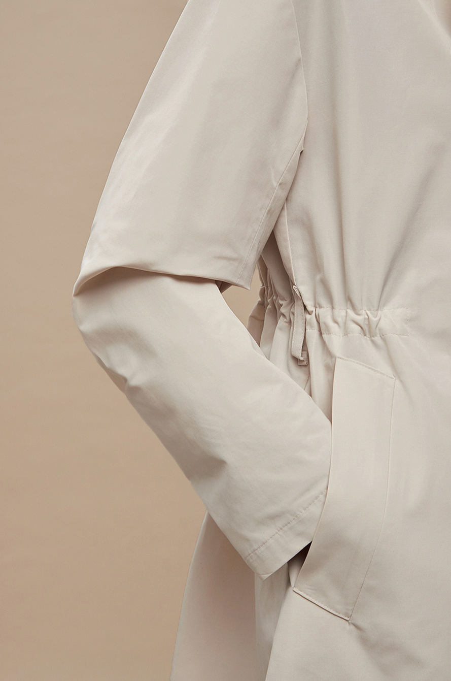 Double belted trench coat