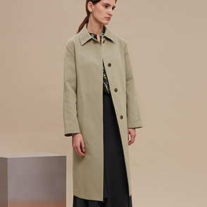Panel placket mac coat