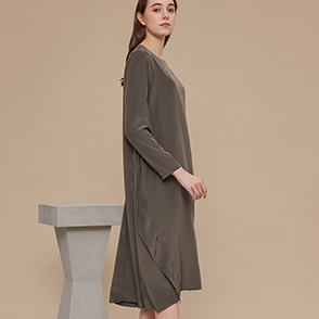 Unbalance hem dress
