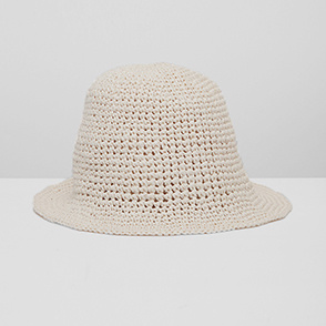 [KARAKORAM] Straw knitting cloche