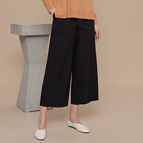 Wide crop pants