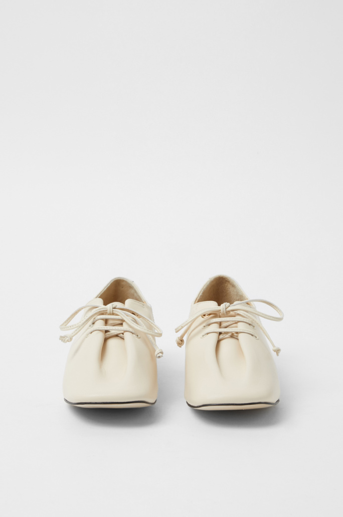 fold leather loafers