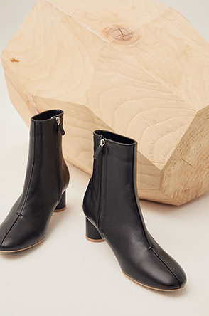 stitch ankle boots