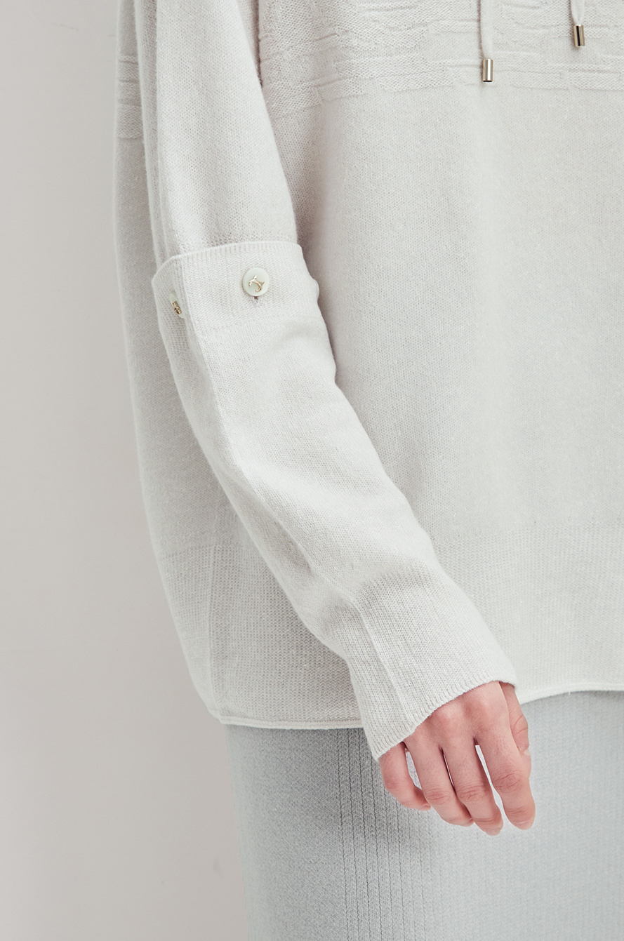 [CLASSY LUX] Detachable sleeve knit