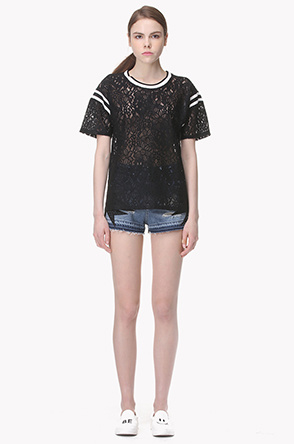 Lace see through T shirt