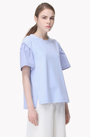 Color block sleeves blouse