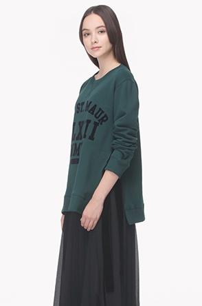 Side open strap sweatshirt